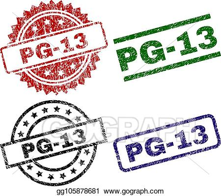 Pg 13 logo clipart svg free download Vector Clipart - Grunge textured pg-13 seal stamps. Vector ... svg free download