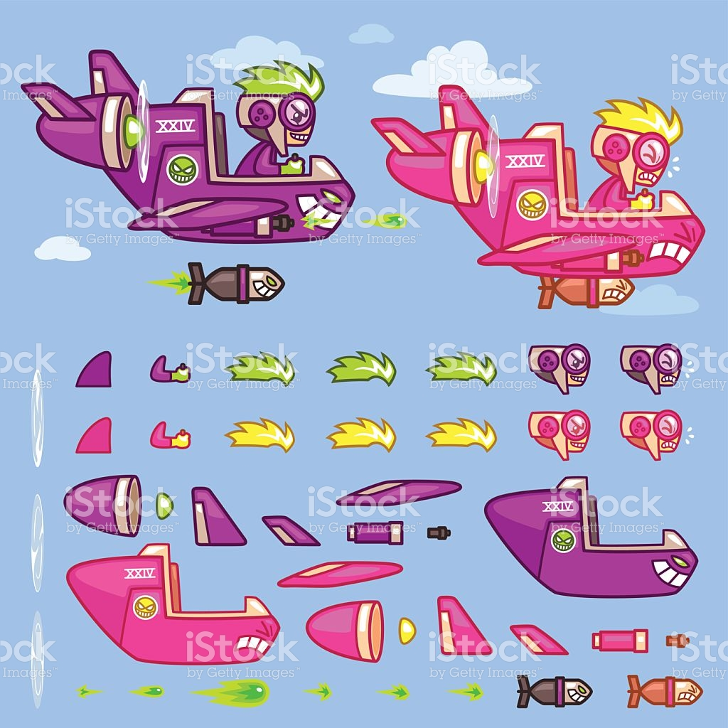 Phantom plane clipart png royalty free Phantom Xxiv Plane Game Sprites stock vector art 517489210 | iStock png royalty free