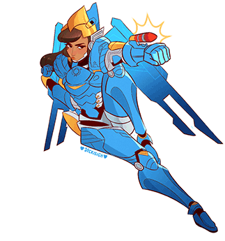 Pharah overwatch clipart clip freeuse overwatch pharah - Sticker by HanniSkywalker clip freeuse