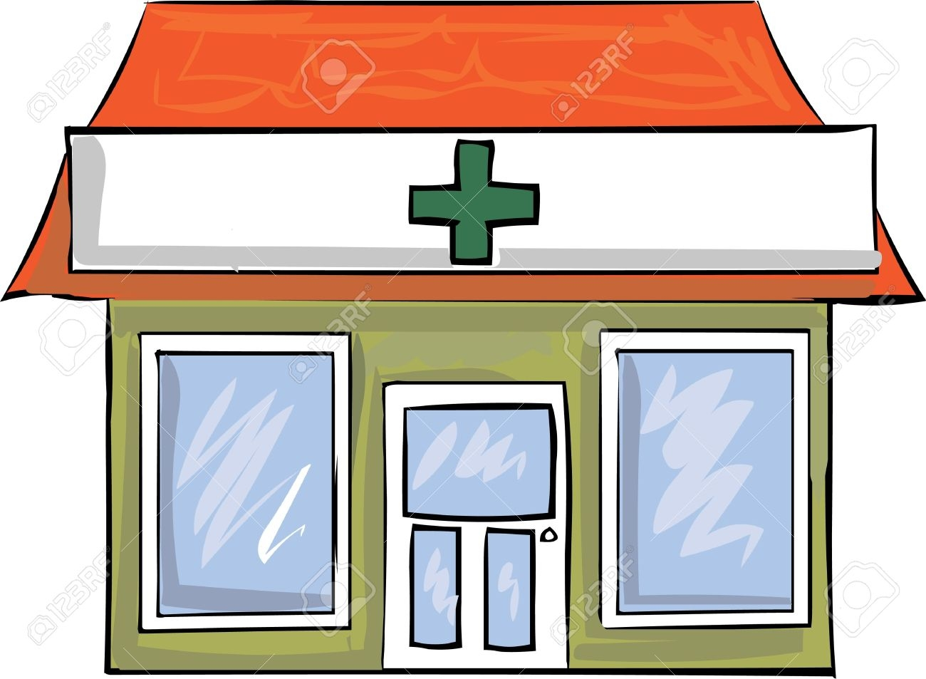 Pharmacy building clipart svg free stock Pharmacy Building Clipart | Free download best Pharmacy ... svg free stock