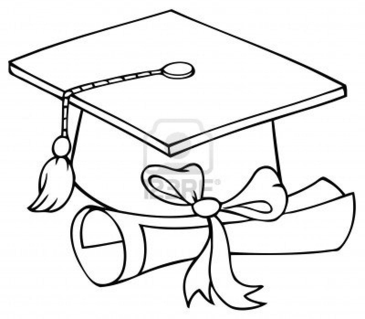 Pharmd graduation cap and diploma free clipart vector transparent stock graduation cap coloring page | Graduation cap coloring page ... vector transparent stock
