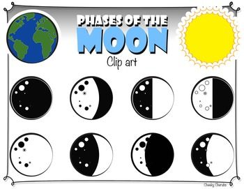 Phases of moon clipart clip art freeuse library Phases of the Moon - Clip art   My TPT products   Moon phases, Clip ... clip art freeuse library