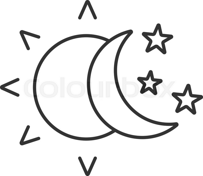 Phases of the moon clipart tumblr linear picture free stock Moon Outline Drawing at PaintingValley.com | Explore collection of ... picture free stock