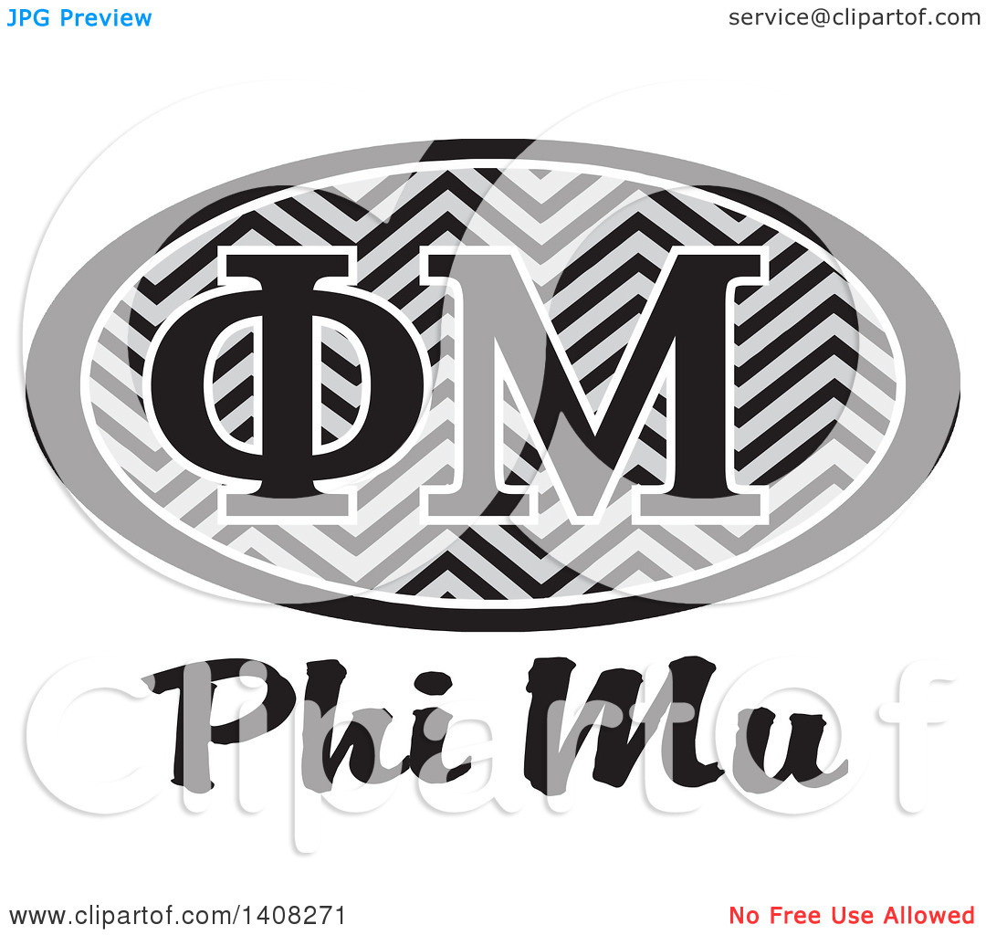 Phi mu clipart clip free library Clipart of a Grayscale College Phi Mu Sorority Organization Design ... clip free library