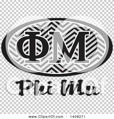 Phi mu clipart graphic library library Clipart of a Grayscale College Phi Mu Sorority Organization Design ... graphic library library