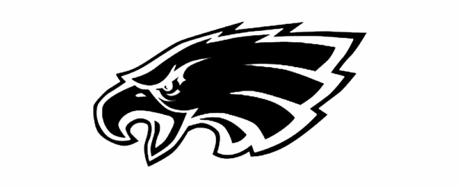 Philadelphia eagles swoop clipart freeuse Black Philadelphia Eagles Logo Free PNG Images & Clipart ... freeuse