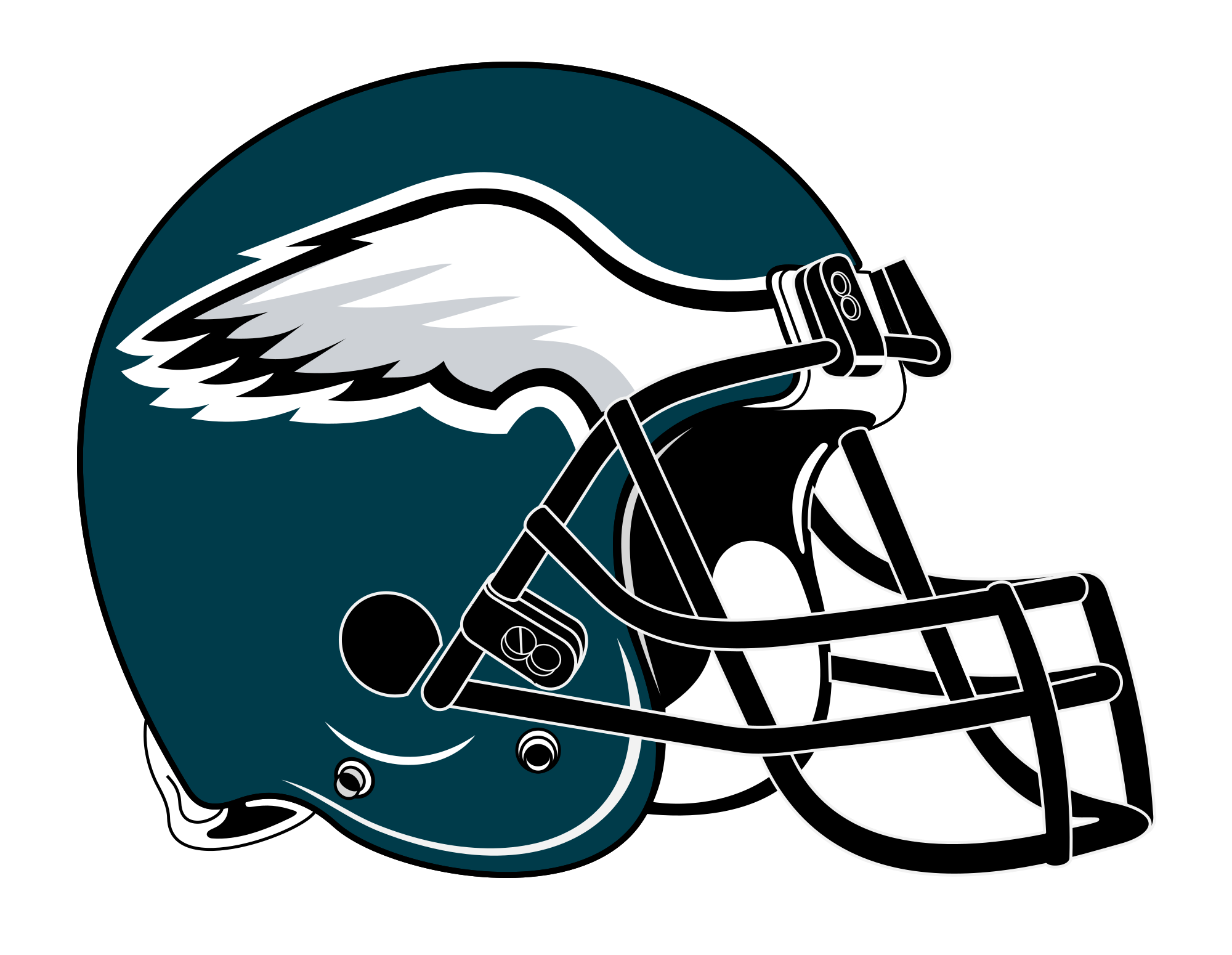 Philadelphia eagles football clipart banner royalty free download Datei:Philadelphia Eagles helmet rightface.svg – Wikipedia banner royalty free download