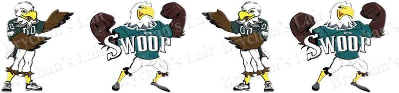 Philadelphia eagles swoop clipart clip art royalty free Philadelphia Eagles Swoop Grosgrain Ribbon clip art royalty free