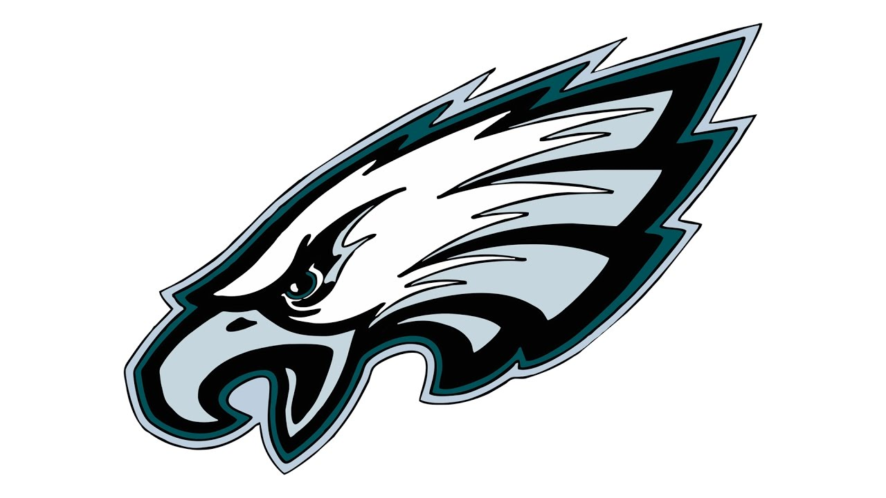 Philadelphia eagles swoop clipart clipart freeuse stock How to Draw the Philadelphia Eagles Logo (NFL) clipart freeuse stock