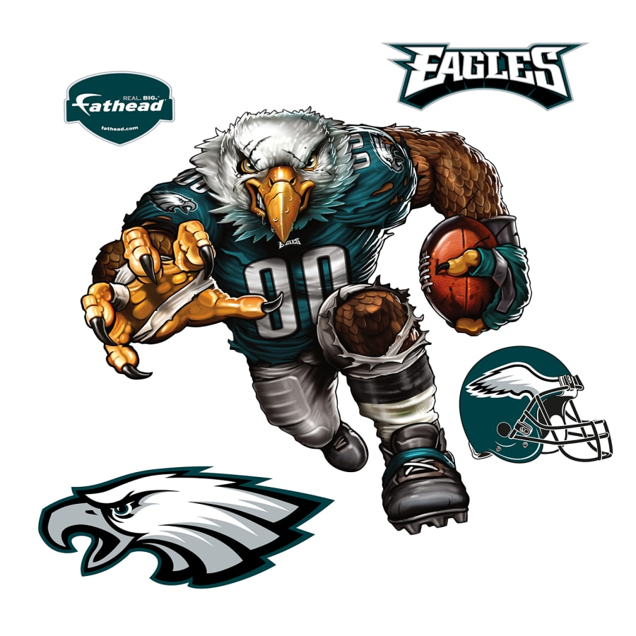 Philadelphia eagles swoop clipart vector transparent stock Extreme Eagle - Giant Officially Licensed Philadelphia Eagles Removable  Wall Decal vector transparent stock