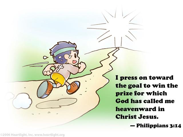 Philippians clipart black and white Philippians 3:14 Illustrated: \