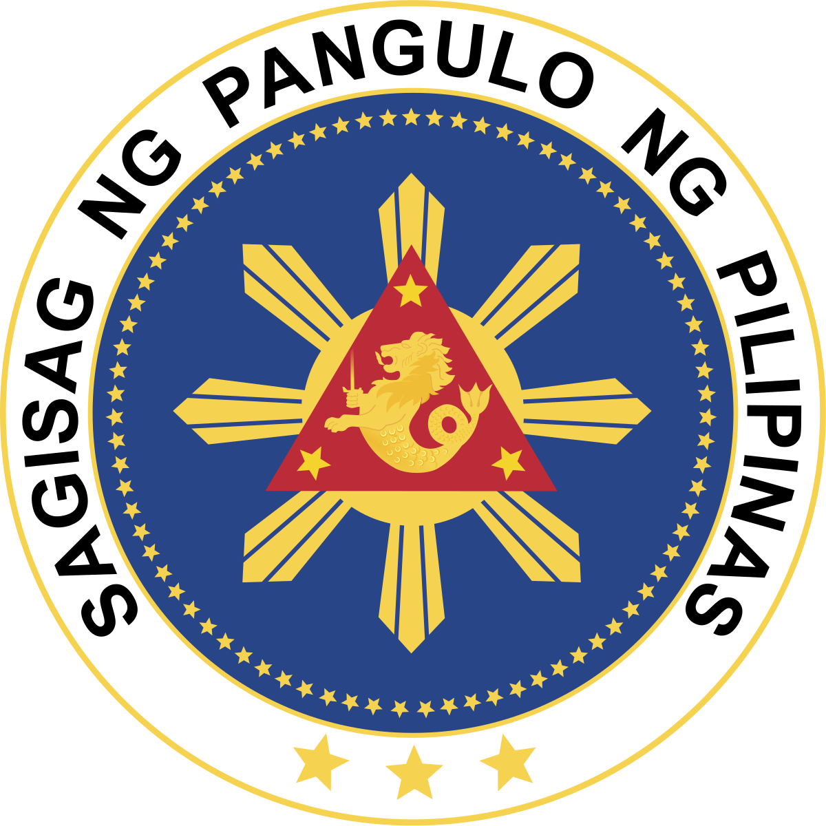 Presidents on money clipart black and white picture royalty free download Seal of the President of the Philippines - Wikipedia picture royalty free download