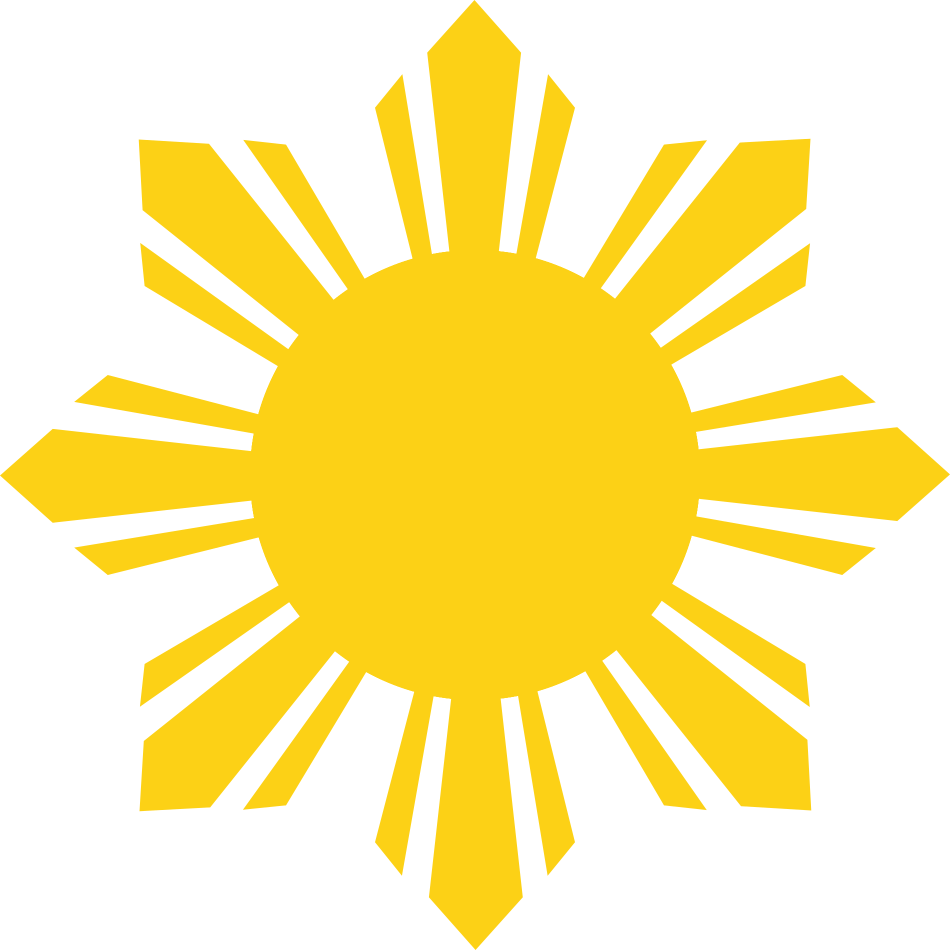 Philippines sun clipart clipart free download File:Flag of the Philippines - cropped sun.svg - Wikimedia Commons clipart free download