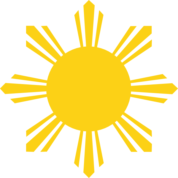Philippines sun clipart png transparent download Sun With 8 Rays Clipart - Alternative Clipart Design • png transparent download