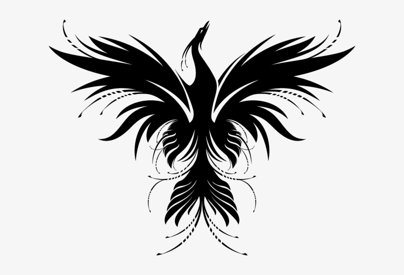 Phoenix rising clipart clip freeuse library Clip Art Library Phoenix Rising Pilates - Tribal Phoenix ... clip freeuse library