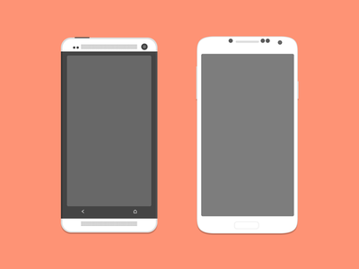 Mockup mobile clipart freeuse stock Free HTC One and Galaxy S4 Mockup Clipart and Vector ... freeuse stock