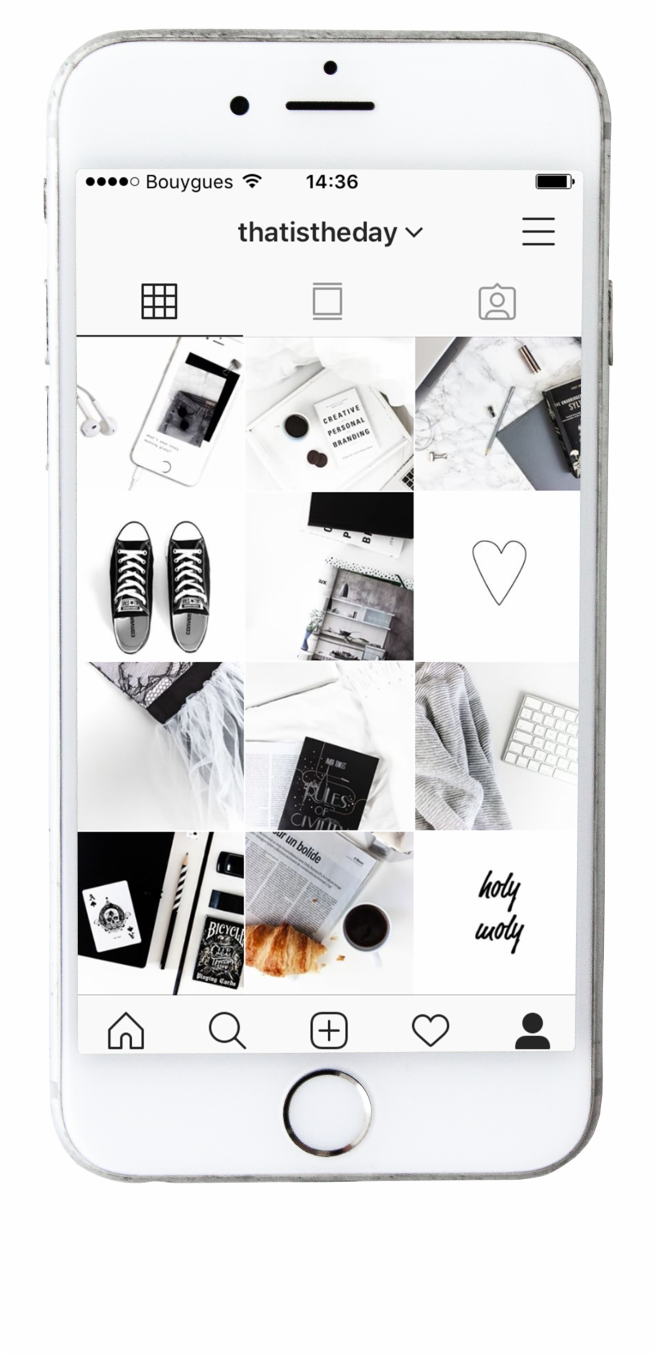 Phone mock up clipart graphic transparent library Instagram Feed Mockup - Feature Phone Free PNG Images ... graphic transparent library