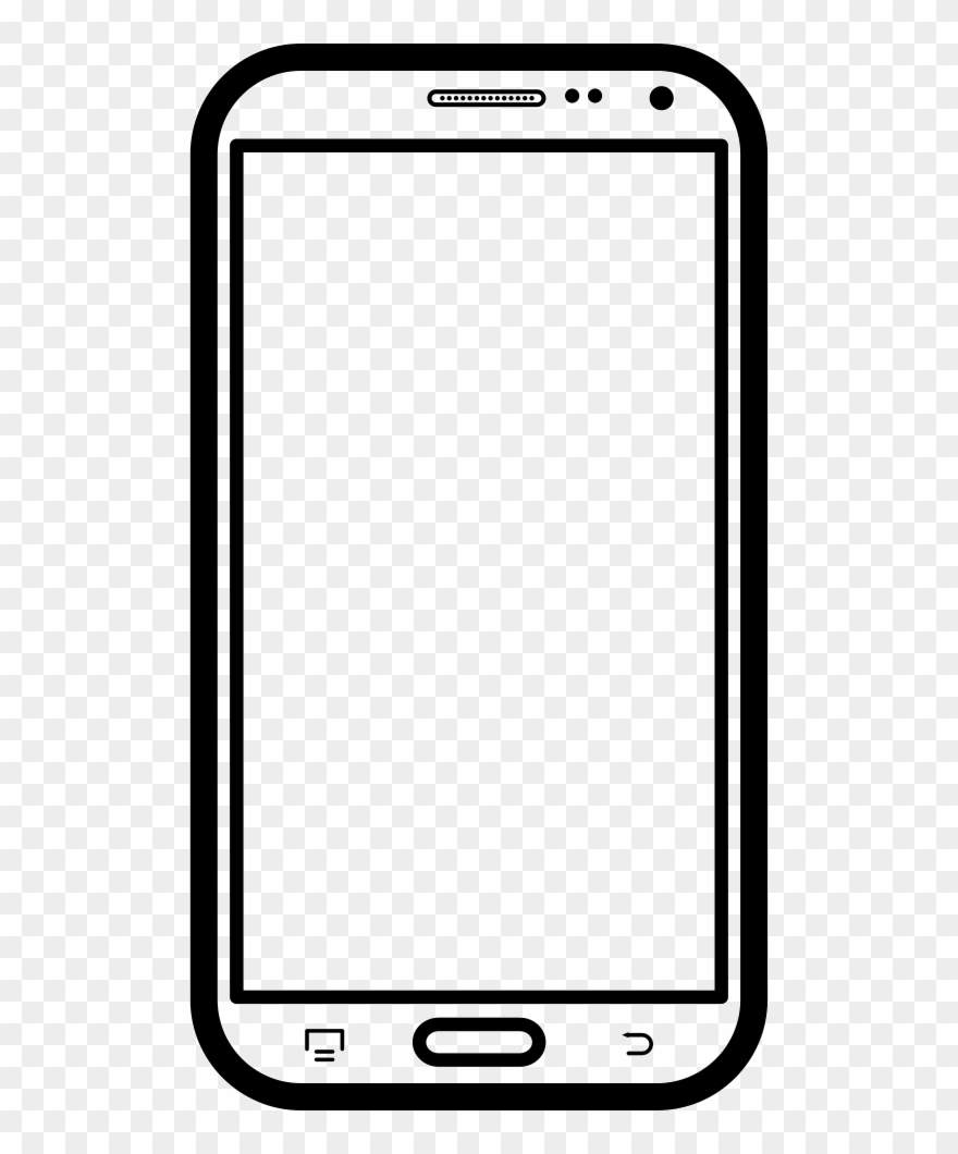 Phone photo frame clipart free library Samsung Mobile Phone Clipart Frame Png - Monochrome ... free library