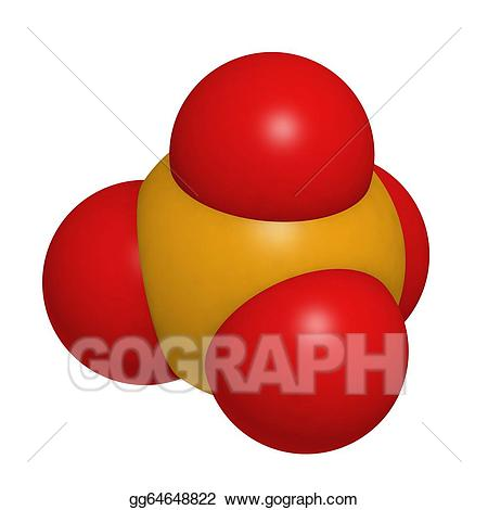 Phosphate clipart image free Stock Illustration - Phosphate, molecular model. Clipart ... image free