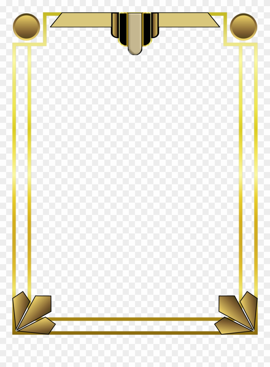 Photo background frame clipart vector royalty free download Png Casino Billboard Background Frames - 1920s Border ... vector royalty free download