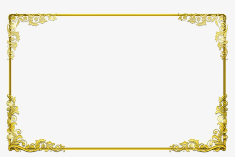 Photo background frame clipart clip black and white Background Frame Png Clipart Borders And Frames Clip - Gold ... clip black and white