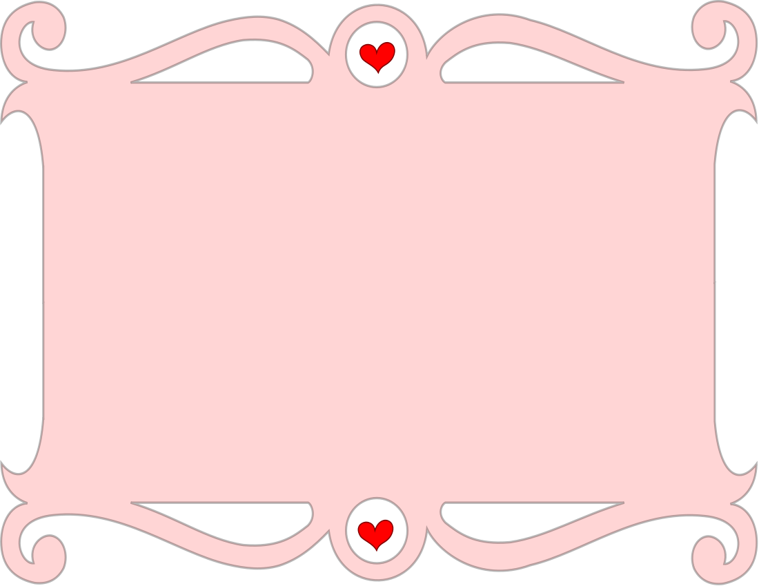 Photo frame clipart with hearts vector library stock Valentine Stationary Clip Art Download vector library stock