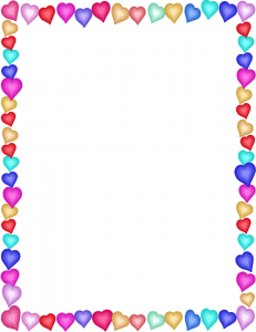Photo frame clipart with hearts library Valentine Stationary Clip Art Download library