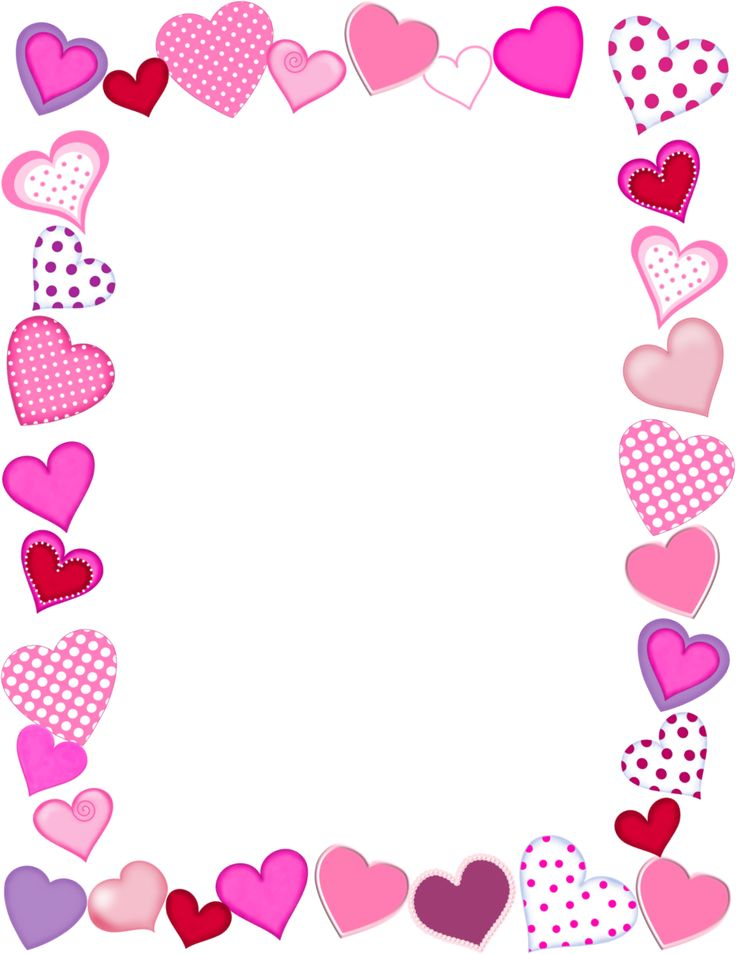 Photo frame clipart with hearts svg transparent download Valentines day clipart frame - ClipartFest svg transparent download