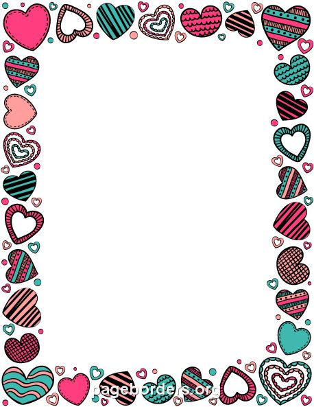 Photo frame clipart with hearts clip royalty free download 17 Best images about heart borders on Pinterest | Clip art, Pink ... clip royalty free download