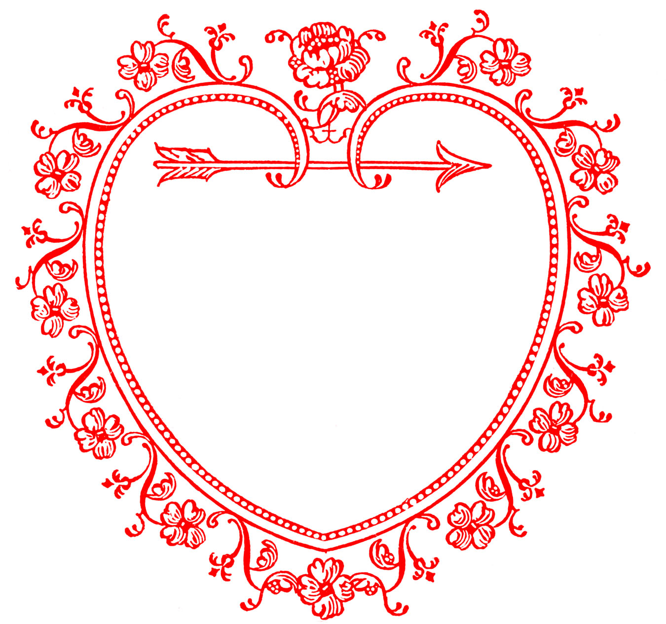 Photo frame clipart with hearts clipart royalty free library Valentines day clipart frame - ClipartFest clipart royalty free library