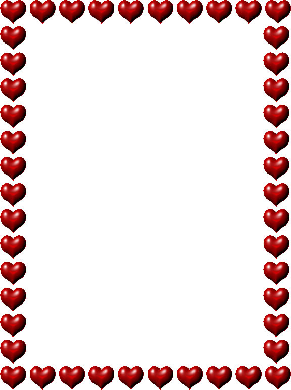 Photo frame clipart with hearts clipart black and white stock Frames and Borders clipart black and white stock
