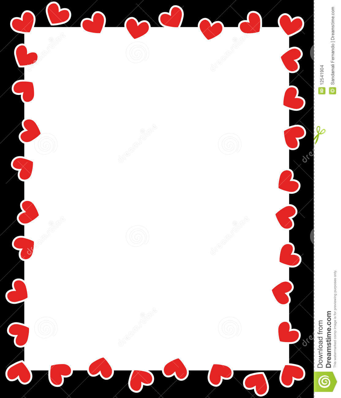 Photo frame clipart with hearts graphic library Valentines day clipart frame - ClipartFest graphic library