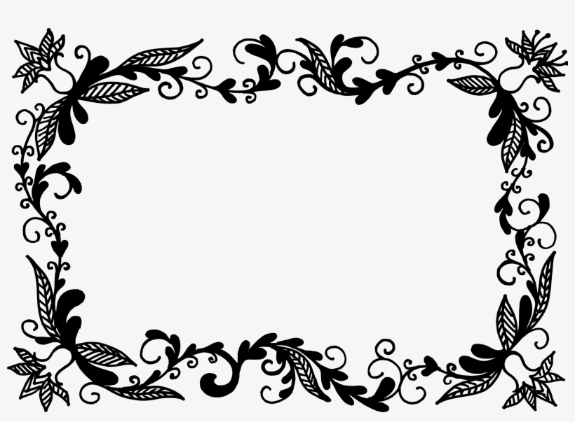 Photo frame design clipart clip art royalty free download Vector Frame Clipart Floral - Vector Border Design Png PNG ... clip art royalty free download