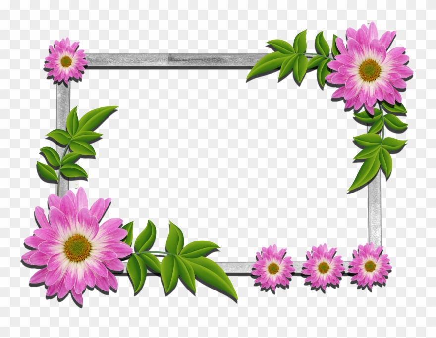 Photo frame images free download clipart vector black and white stock Psd Flower Frames Free Download Clipart (#96535) - PinClipart vector black and white stock