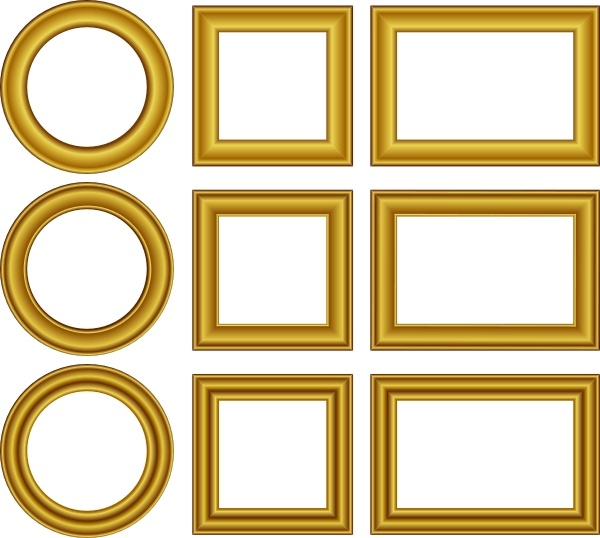 Photo frame images free download clipart clip art black and white stock Gold Frames Set clip art Free vector in Open office drawing ... clip art black and white stock