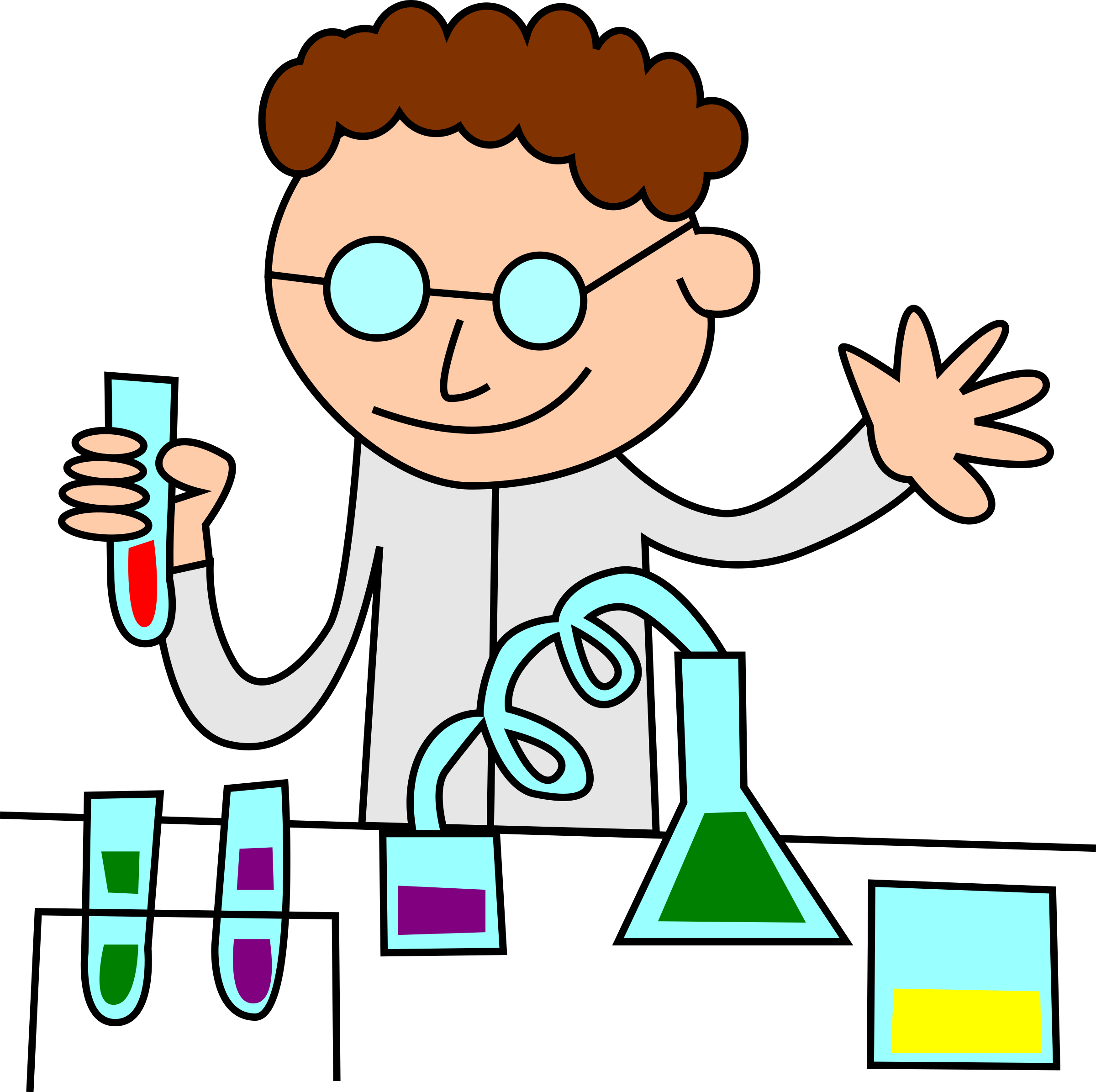 Photo lab clipart clip download Chemist in lab vector clipart image - Free stock photo ... clip download
