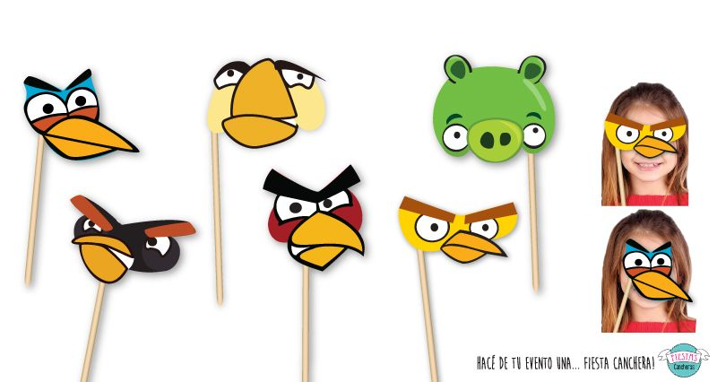 Photobooth birds clipart clipart freeuse download Angry Birds // Props para PhotoBooth | Party ideas in 2019 ... clipart freeuse download