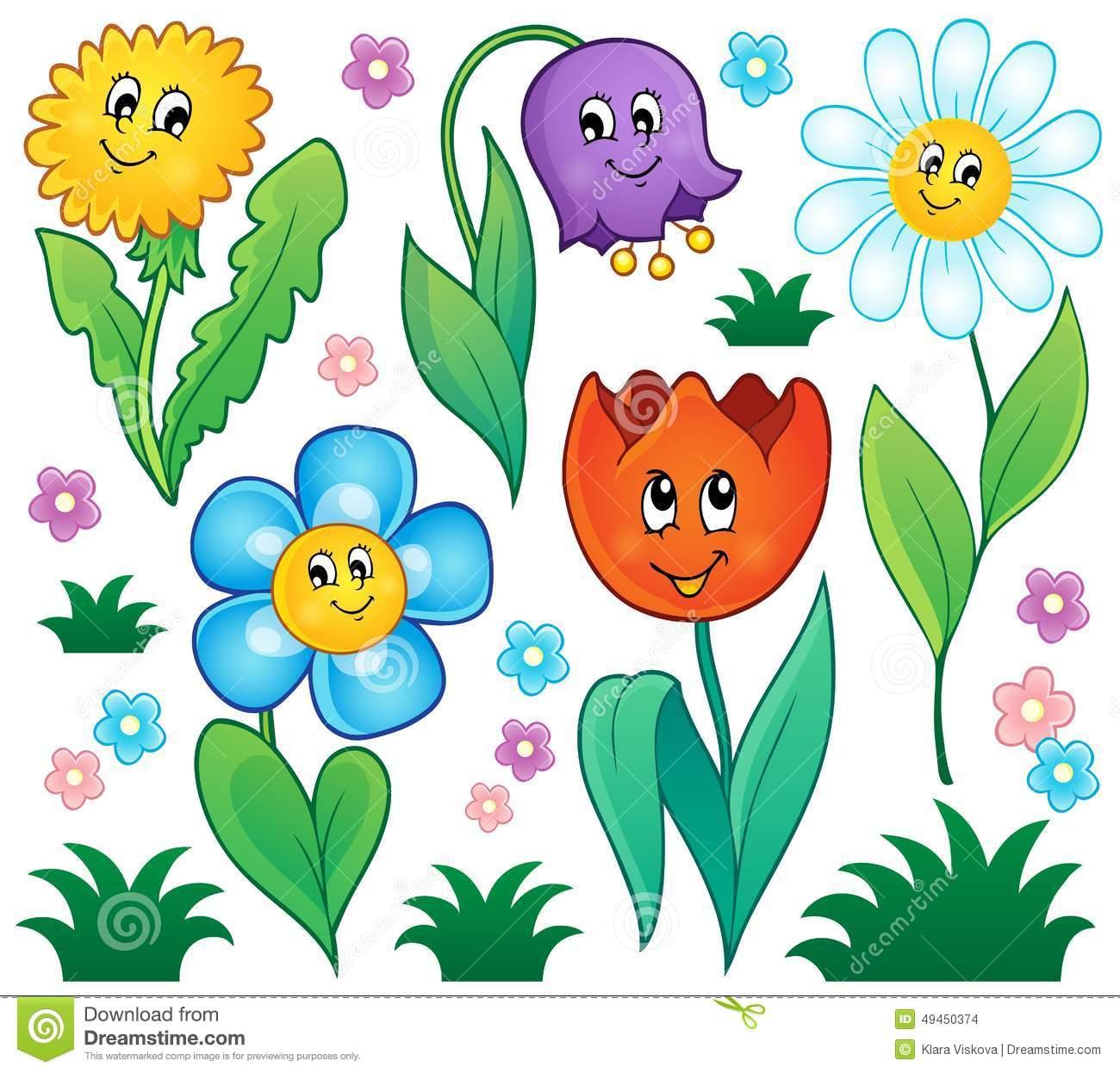 Photos of cartoon flowers clip art Cartoon Flowers Collection Stock Photography - Image: 29201162 clip art