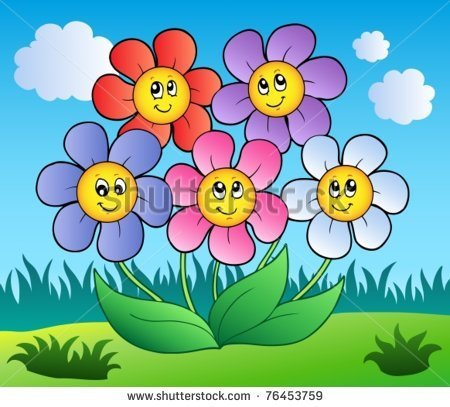 Photos of cartoon flowers png royalty free download Cartoon flowers picture - ClipartFest png royalty free download
