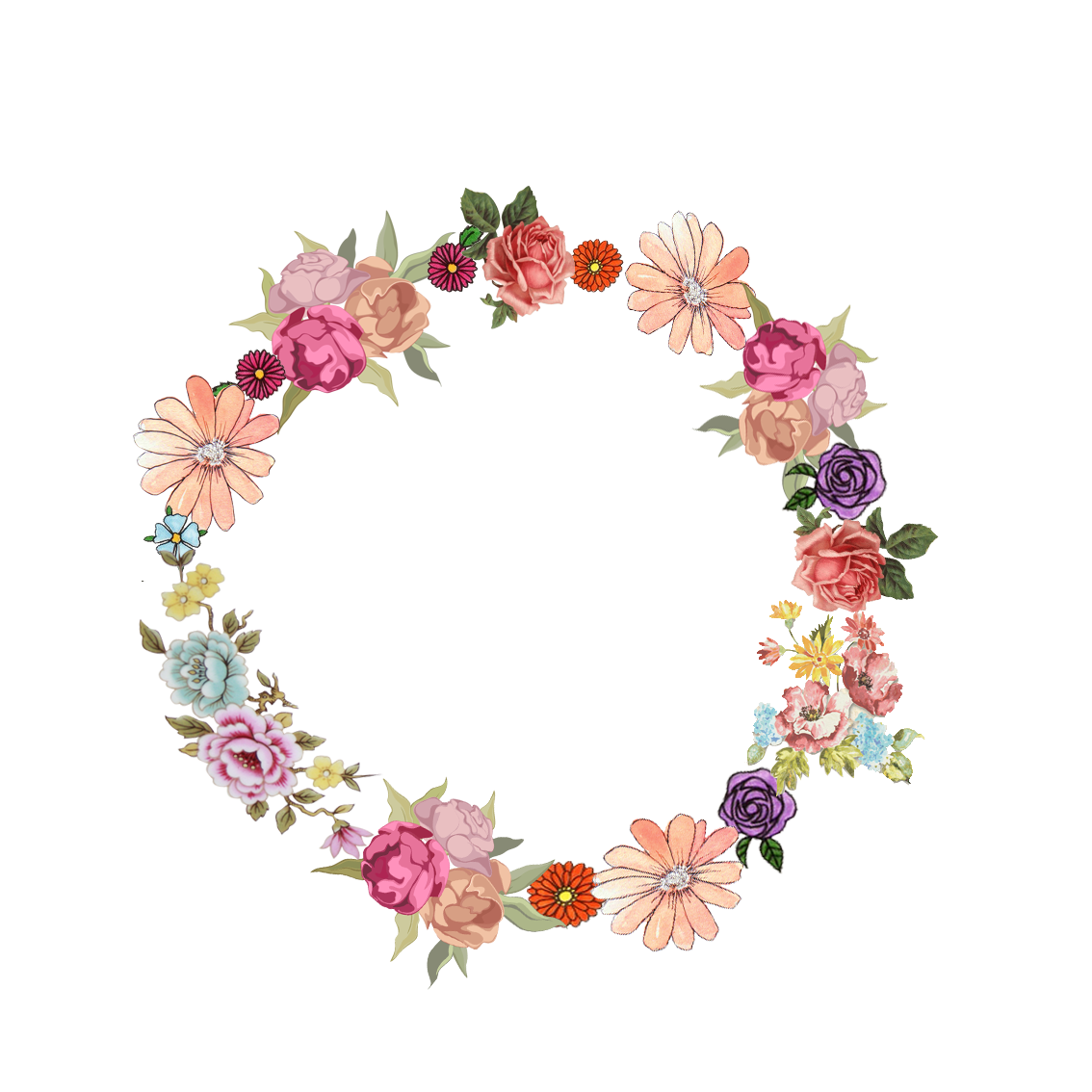 Photoshop clipart flower crown png black and white library 5.png (1134×1134) | frames | Pinterest | Corona, Photoshop and Journal png black and white library