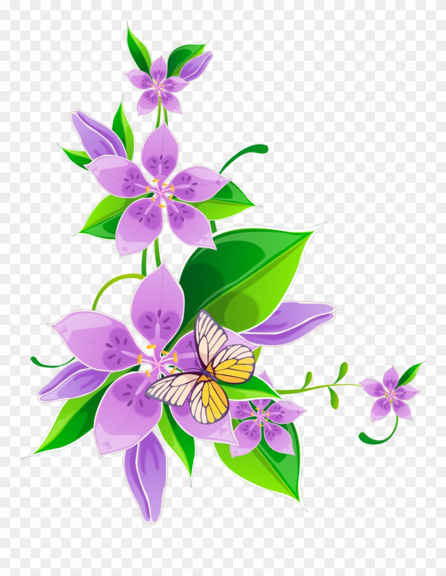 Photoshop clipart library png library stock Svg Library Library Flower Purple Corner Flowers Transprent ... png library stock