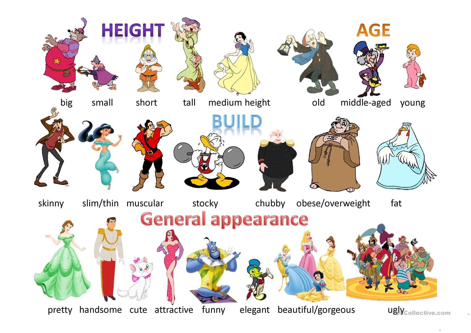 Physical appearance clipart banner black and white download English ESL physical description Powerpoint presentations ... banner black and white download