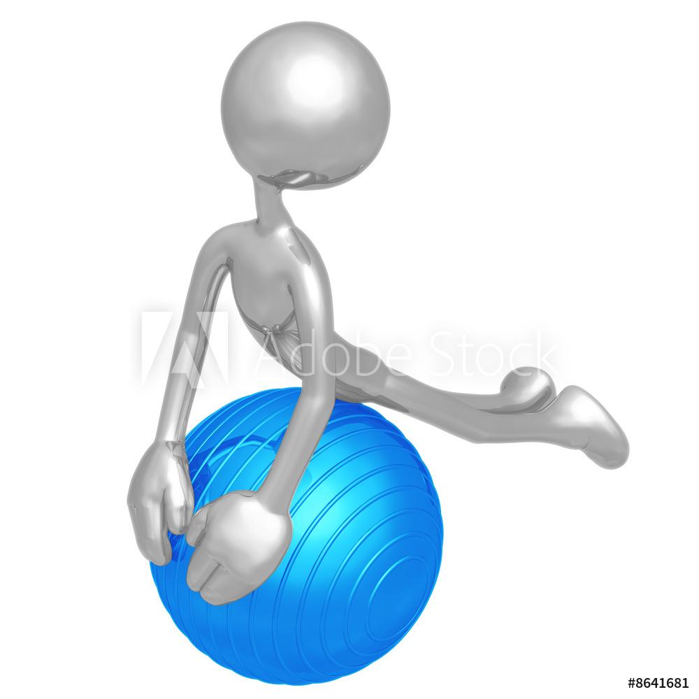 Physioball clipart image free stock Yoga Pilates Physio Ball Poster image free stock