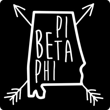 Pi beta phi clip art image black and white Beta Phi Alabama Tee T-Shirt image black and white