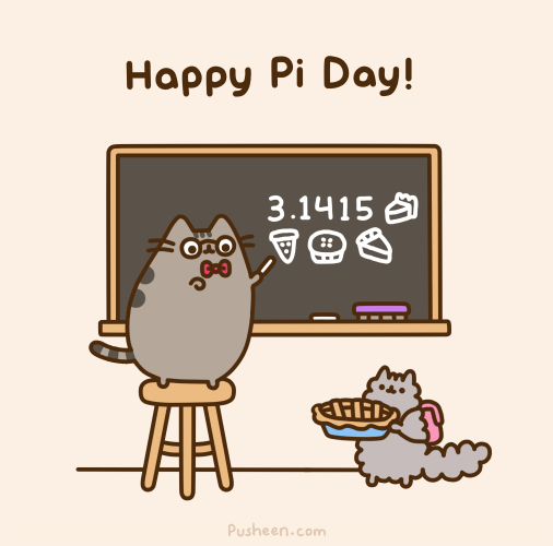 Pi day 2016 clipart clipart freeuse library Pusheen the cat on Twitter: