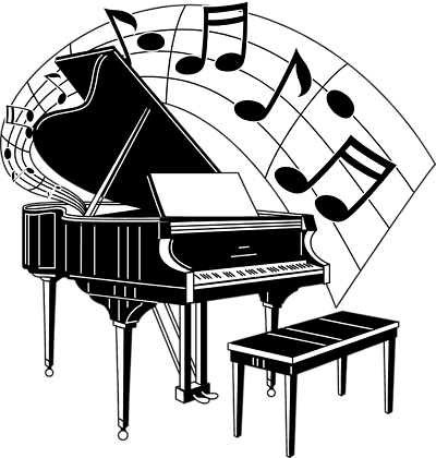 Piano clipart images png black and white music symbols clip art | Free Stock Photo: Illustration of a ... png black and white