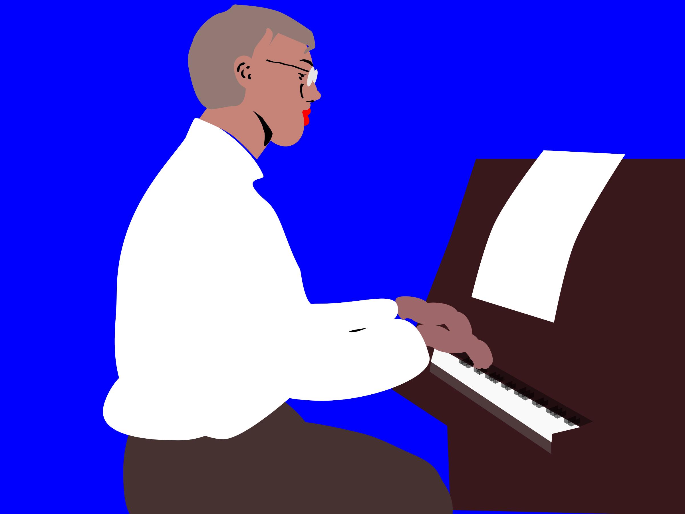 Piano football and baseball clipart image free library Pianist clipart   ClipartMonk - Free Clip Art Images image free library