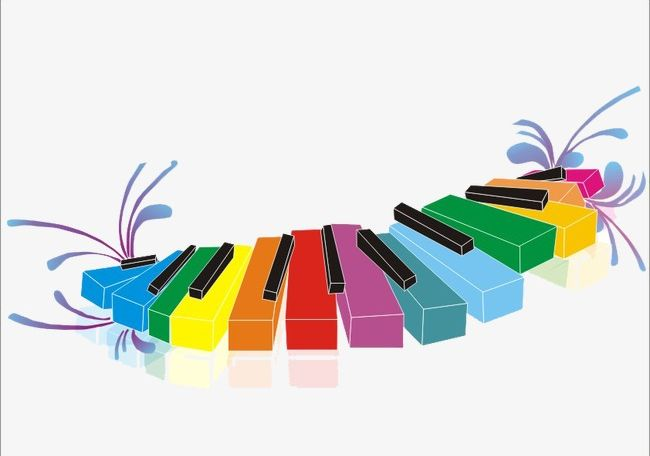 Piano keyboard clipart color picture free library Piano Keys PNG, Clipart, Color, Keyboard, Keys Clipart ... picture free library