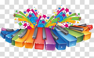 Piano keyboard clipart color banner library download Multicolored piano , Piano Musical keyboard, Color piano ... banner library download