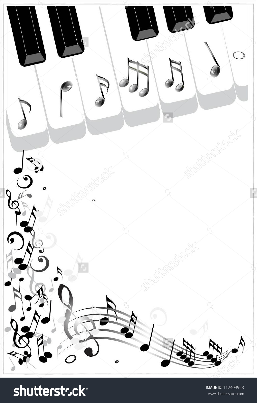 Piano sheet music clipart jpg freeuse download Clip Art Illustration Music Background Piano Stock Vector ... jpg freeuse download